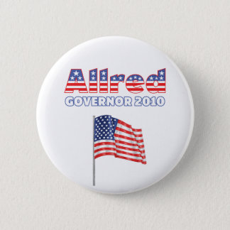 Allred Patriotic American Flag 2010 Elections 2 Inch Round Button