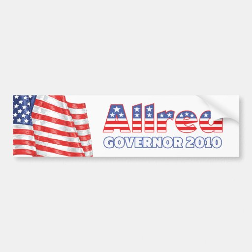 Allred Patriotic American Flag 2010 Elections Bumper Stickers