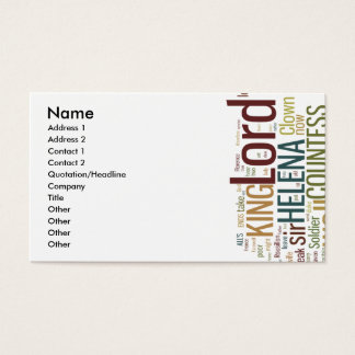 All's Well That Ends Well Word Mosaic Business Card