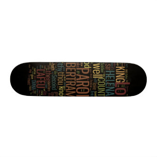 All's Well That Ends Well Word Mosaic Skate Board Deck