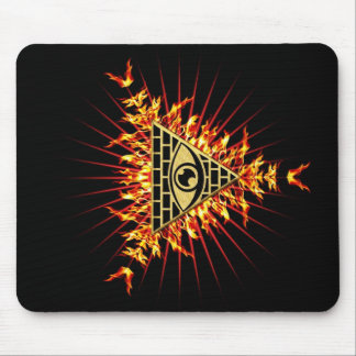 Allsehendes eye of God, pyramid, planning Mouse Pad