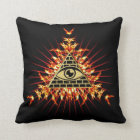 Allsehendes eye of God, pyramid, planning Throw Pillow
