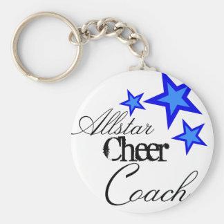 allstar cheer coach basic round button keychain