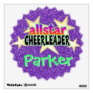 Allstar Cheerleader Personalized Vinyl Wall Art Wall Sticker