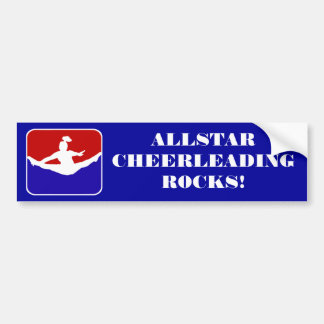 Allstar Cheerleading rocks bumper sticker
