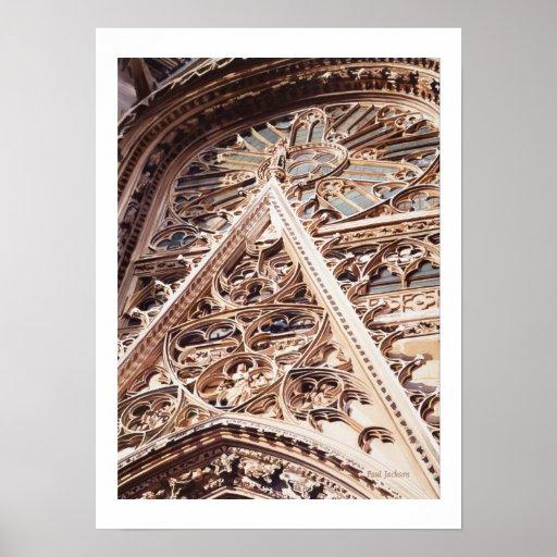 """""""Allure"""" Church Architecture Watercolor Poster"""