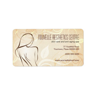 Alluring Curves Spa Address Label