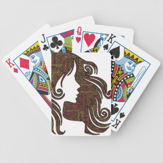 Alluring lady bicycle playing cards
