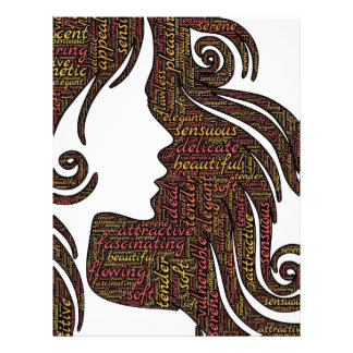 Alluring lady letterhead