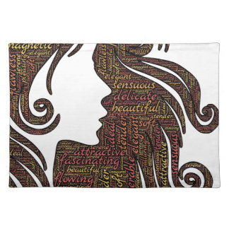 Alluring lady placemat