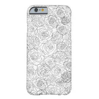 Alluringly floral barely there iPhone 6 case