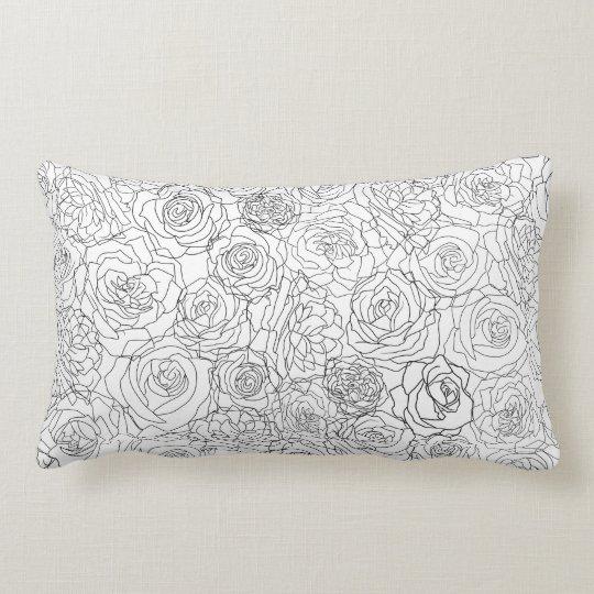 Alluringly floral lumbar pillow