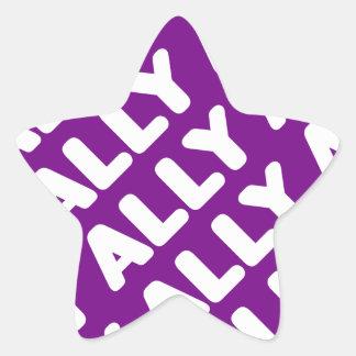 Ally LGBT Straight Allies Spirit Day White Purple Star Sticker