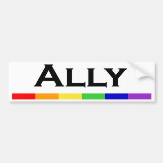 Ally Pride Bumper Sticlker Bumper Sticker