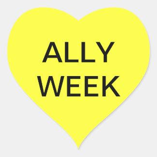 ALLY WEEK HEART STICKER
