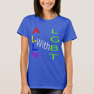 Ally with LGBT T-Shirt