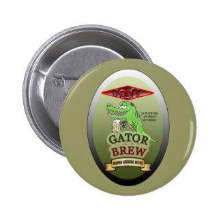 Ally's Gator Brew 2 Inch Round Button