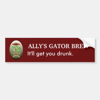 Ally's Gator Brew Bumper Sticker