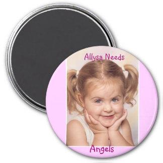 Allysa Needs Angels Magnet