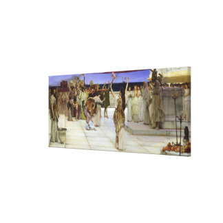 Alma-Tadema  A Dedication to Bacchus Canvas Print
