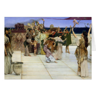 Alma-Tadema |A Dedication to Bacchus Card
