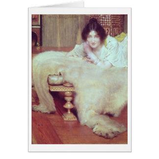 Alma-Tadema   A Listener: The Bear Rug, 1899 Card