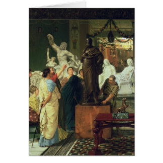 Alma-Tadema | Dealer in Statues Card