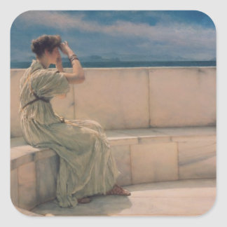 Alma-Tadema | Expectations, 1885 Square Sticker