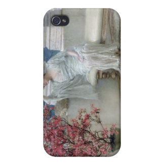 Alma-Tadema | Her eyes are with her thoughts� iPhone 4 Case