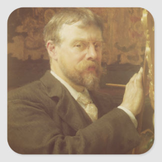 Alma-Tadema | Self Portrait, 1897 Square Sticker