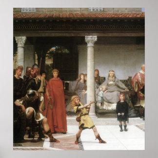 Alma-Tadema - The education of children Clovis, Poster