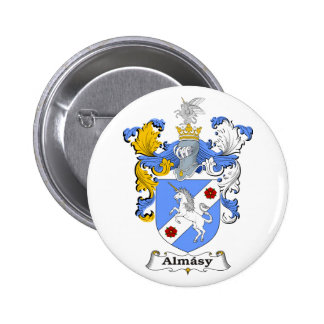 Almasy 3 Family Hungarian Coat of Arms 2 Inch Round Button