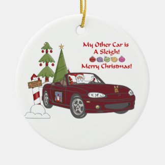 ALMC-Santa s Sleigh-Copper Christmas Ornaments