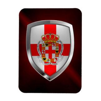 Almería Metallic Emblem Magnet