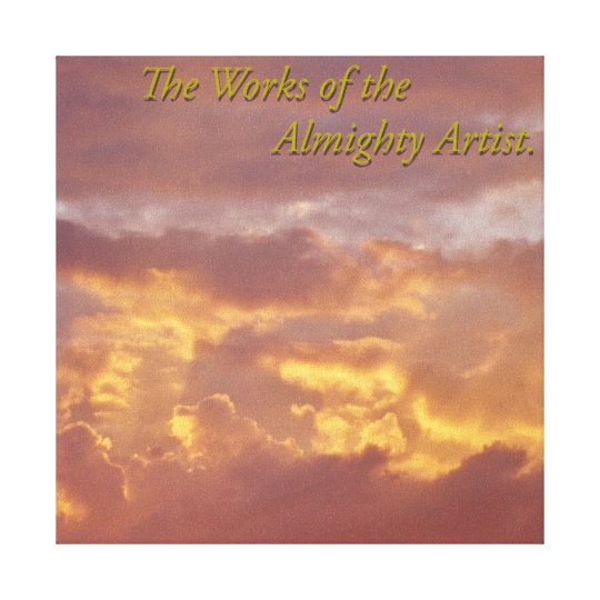 Almighty Artist Canvas Print