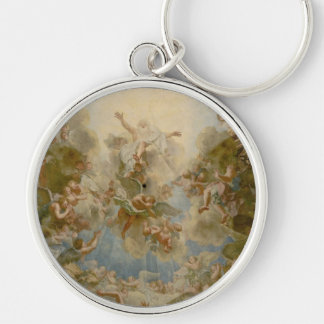 Almighty God the Father - Palace of Versailles Silver-Colored Round Keychain