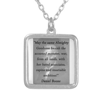 Almighty Goodness - Daniel Boone Silver Plated Necklace