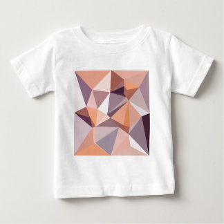 Almond Beige Abstract Low Polygon Background Baby T-Shirt