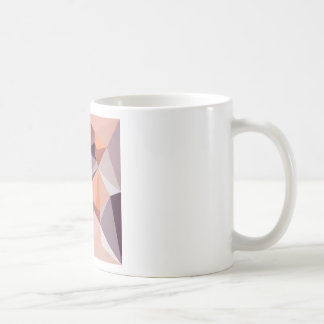 Almond Beige Abstract Low Polygon Background Coffee Mug
