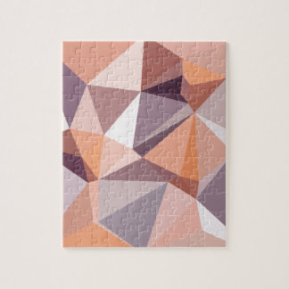 Almond Beige Abstract Low Polygon Background Jigsaw Puzzle
