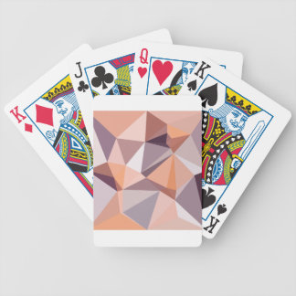 Almond Beige Abstract Low Polygon Background Poker Deck