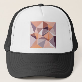 Almond Beige Abstract Low Polygon Background Trucker Hat