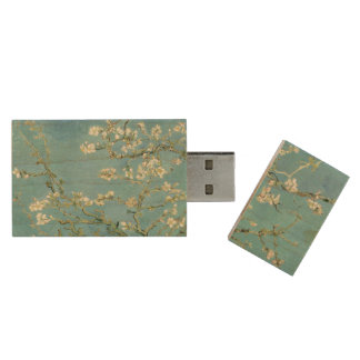 Almond Blossom by Van Gogh Fine Art Wood USB Flash Drive