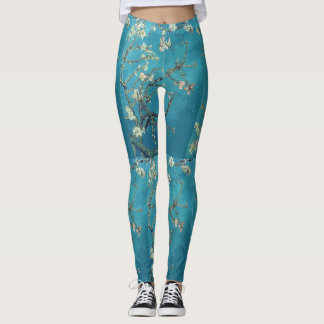 Almond Blossom Van Gogh Fine Art Leggings Pants