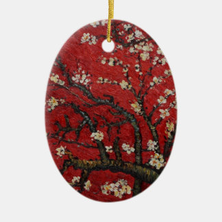 Almond Blossom Vincent Van Gogh Ceramic Oval Ornament
