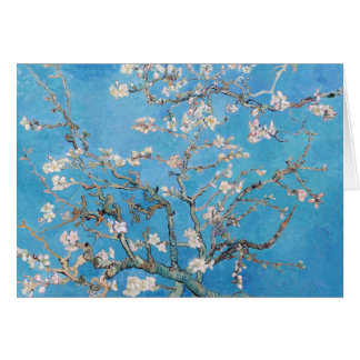 Almond Blossoms Blue Vincent van Gogh Art Painting Greeting Card