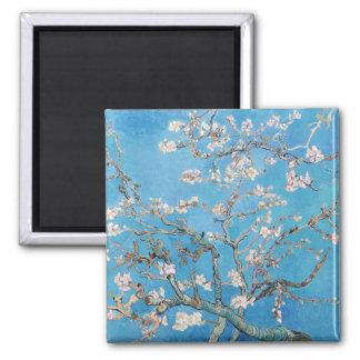 Almond Blossoms Blue Vincent van Gogh Art Painting Square Magnet