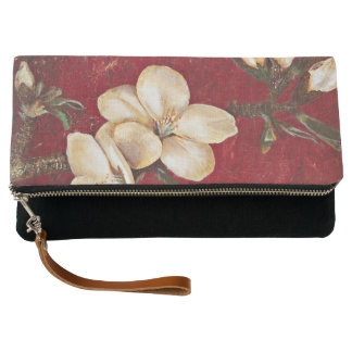 Almond Blossoms on Red Clutch