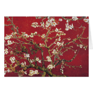 Almond Blossoms Red Vincent van Gogh Art Painting Greeting Card