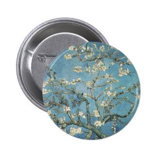 Almond branches in bloom, 1890, Vincent van Gogh 2 Inch Round Button